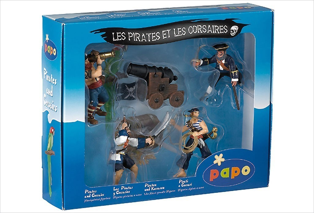 Coffret de pirates -5 figurines