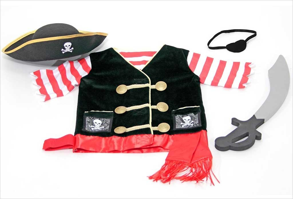 Costume de pirate 3 - 6 ans