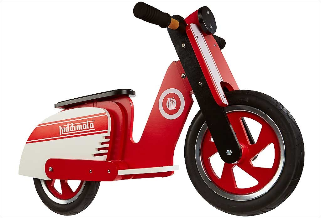 Draisienne bois scooter rouge
