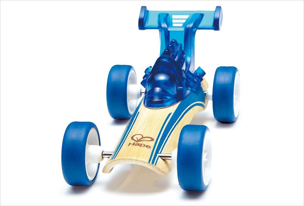 Voiture jouet bambou Dragster