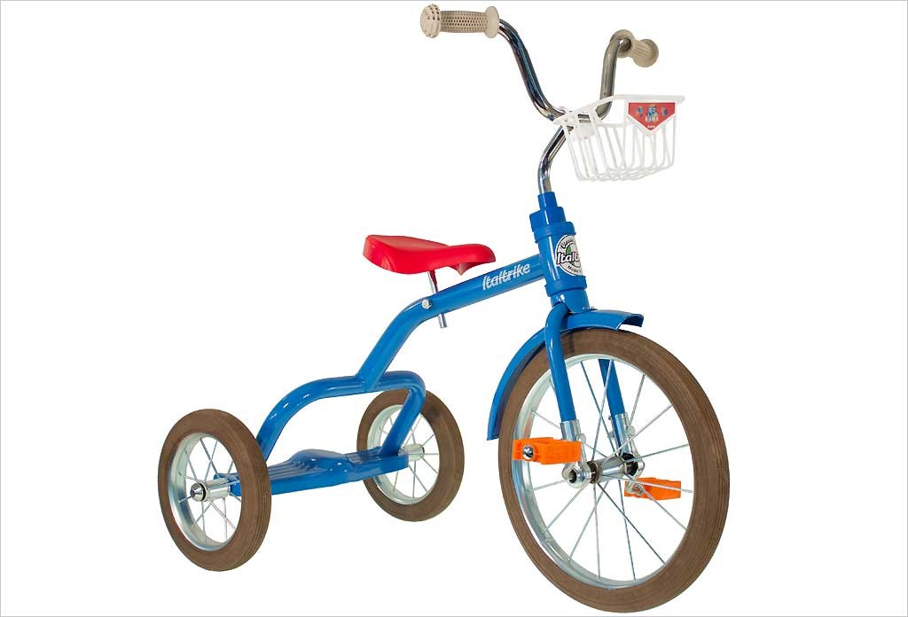 Grand tricycle vintage bleu 3-5 ans - Italtrike