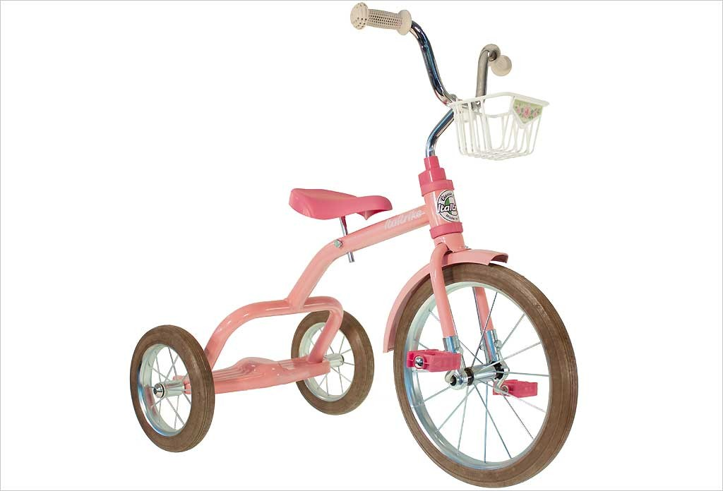 Grand tricycle vintage rose 3-5 ans - Italtrike
