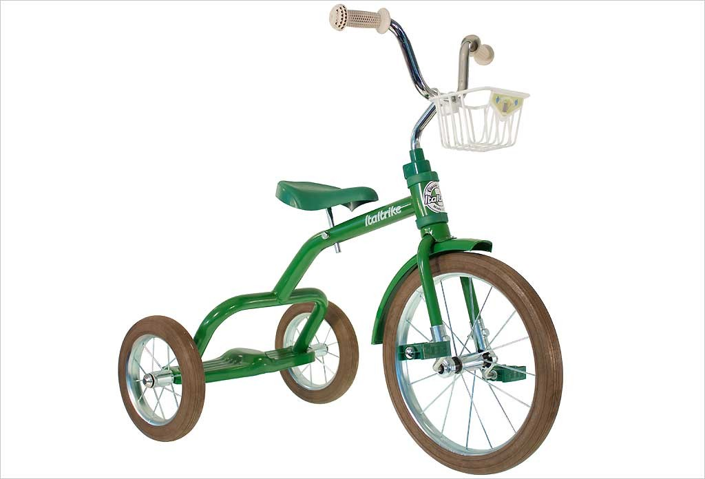 Grand tricycle vintage vert 3-5 ans - Italtrike