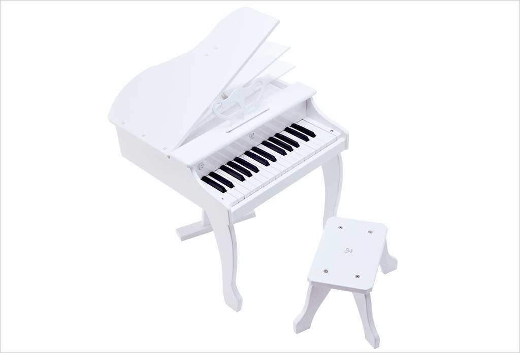 Piano à queue électronique blanc Hape