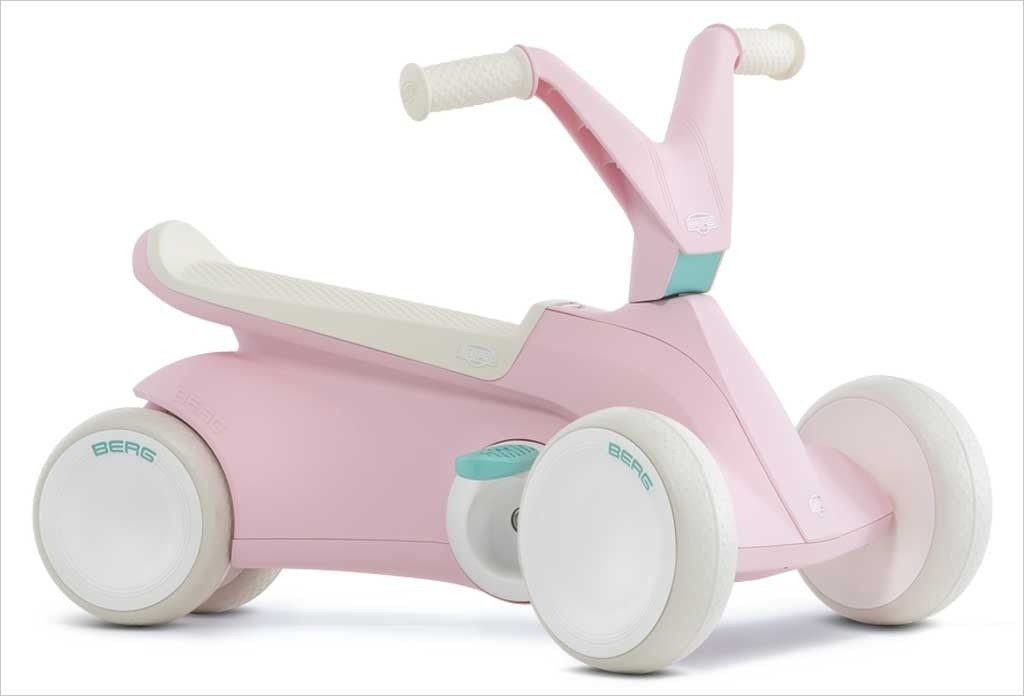 Porteur tricycle BERG GO² rose