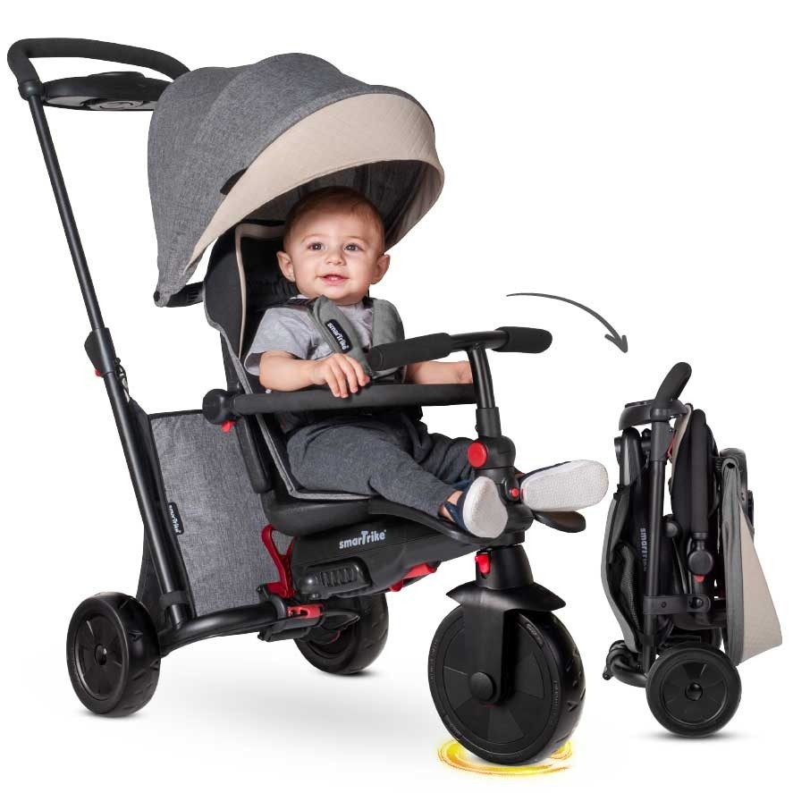 Poussette Tricycle gris SmarTrike