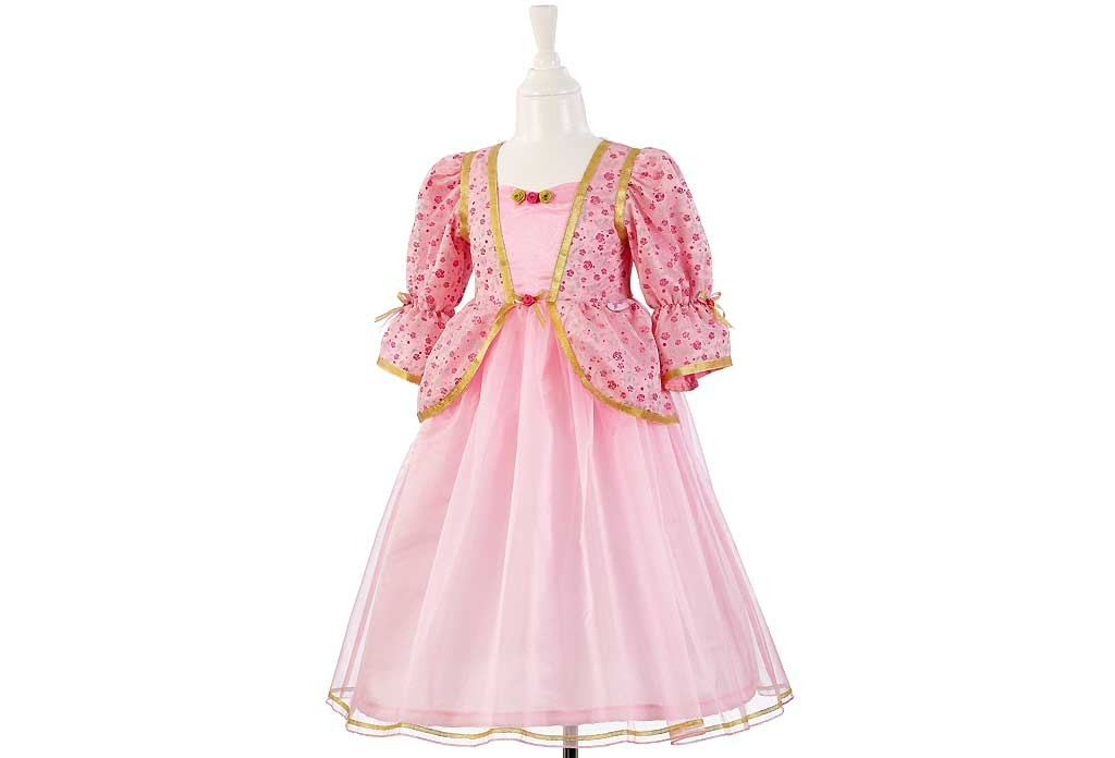 Robe de princesse rose fille 5-7 ans