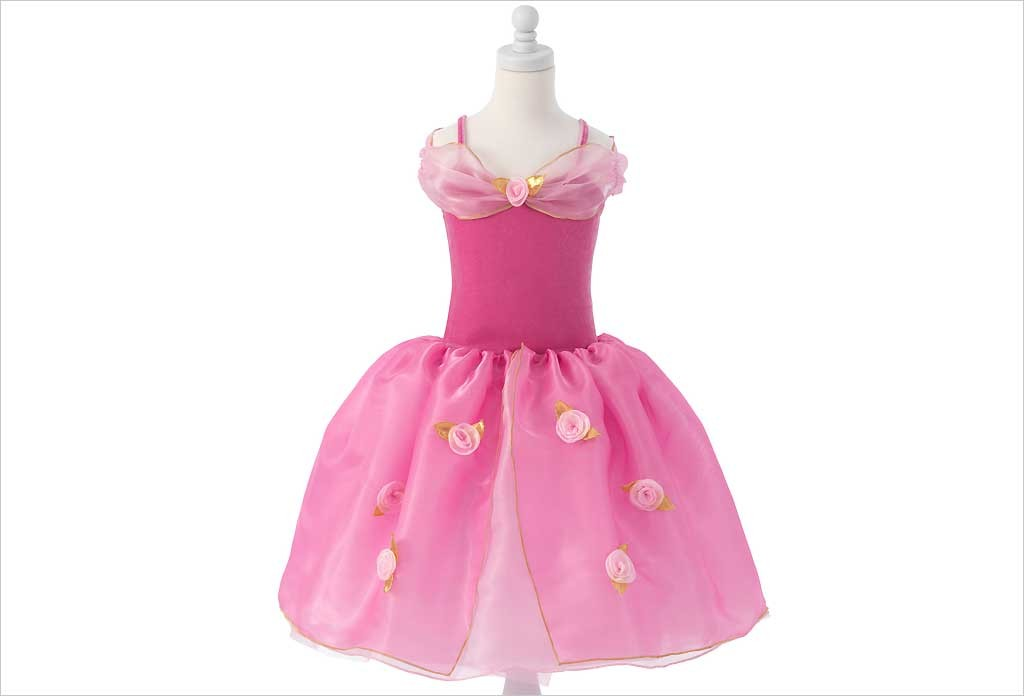 Robe de princesse rose 4-5 ans
