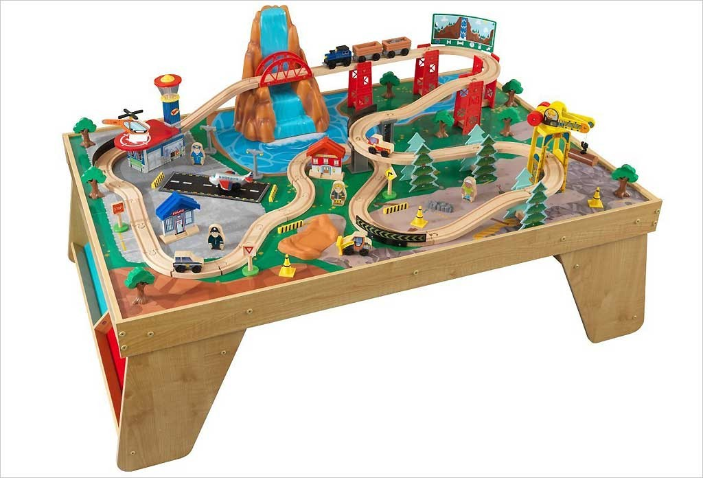 Table de circuit de train en bois Kidkraft
