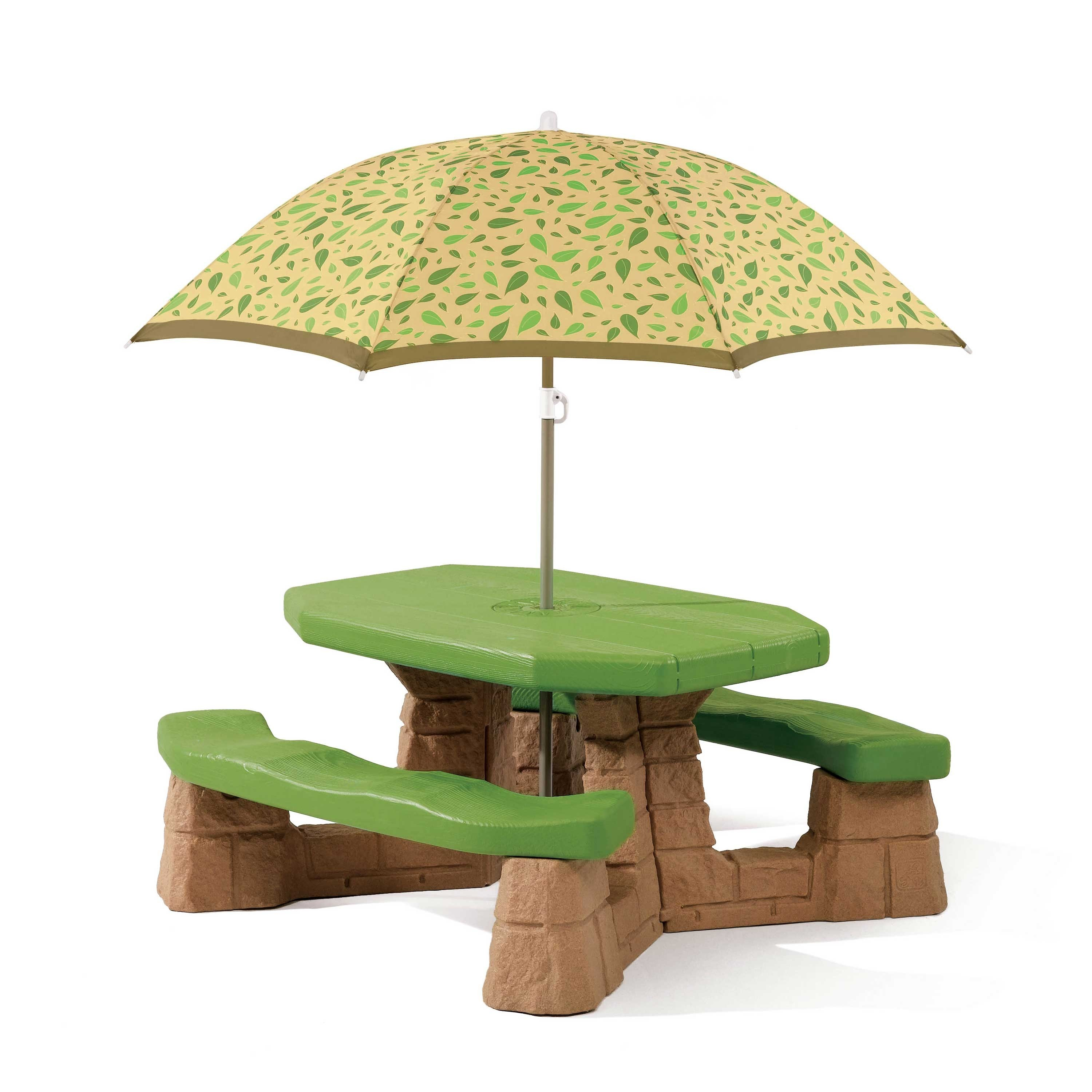 Table picnic Naturally Playful avec parasol- socle brun Step2
