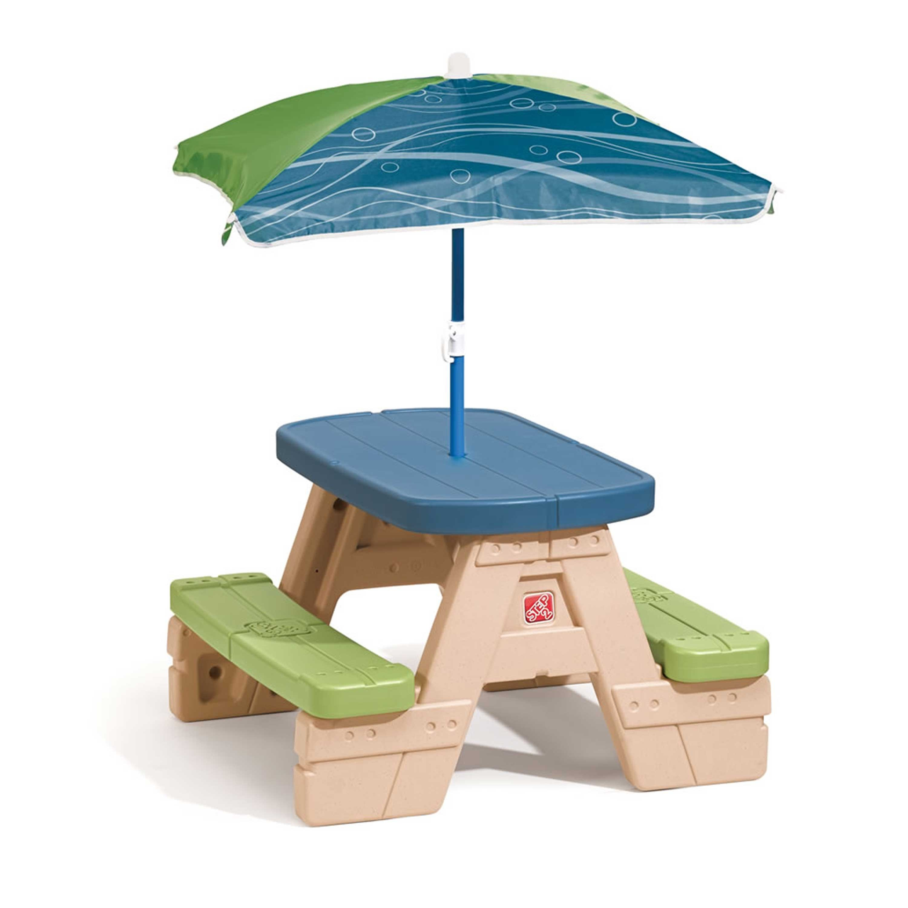 Table picnic Sit and Play avec parasol Step2
