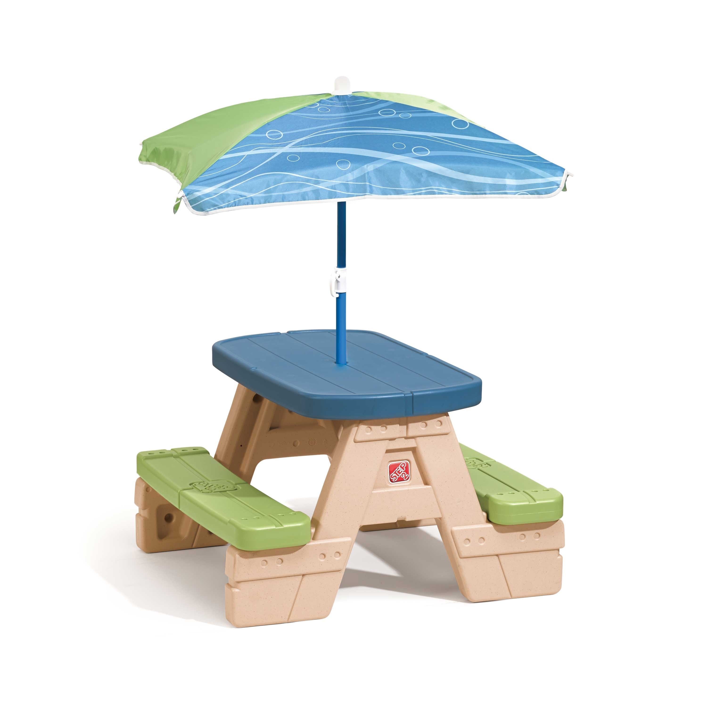 Table picnic Sit and Play avec parasol x 4 Step2