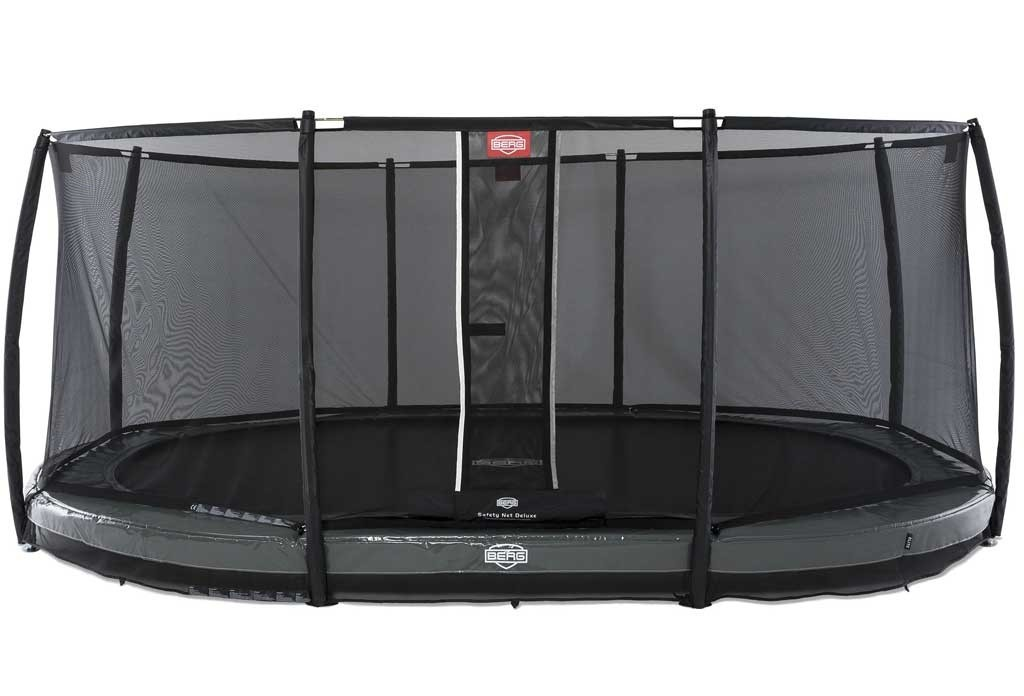 Trampoline BERG InGround Elite Gris 520 + Filet