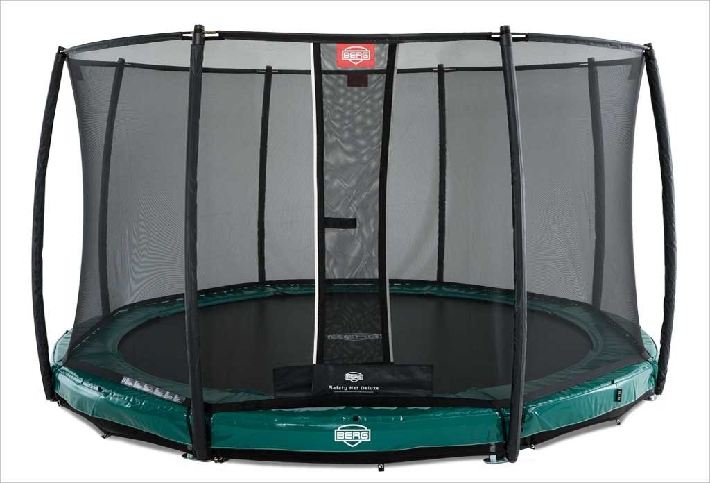 Trampoline BERG InGround Elite Vert 330 + Filet