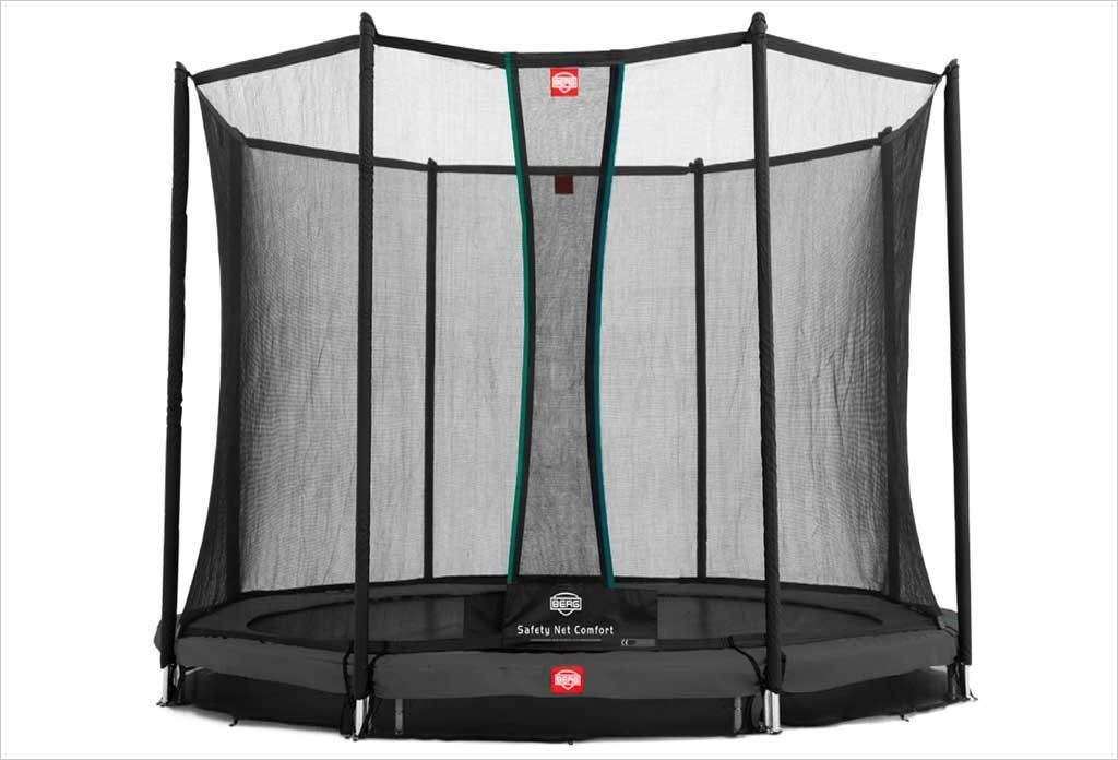 Trampoline enterré Gris 330cm Favorit + filet - BERG