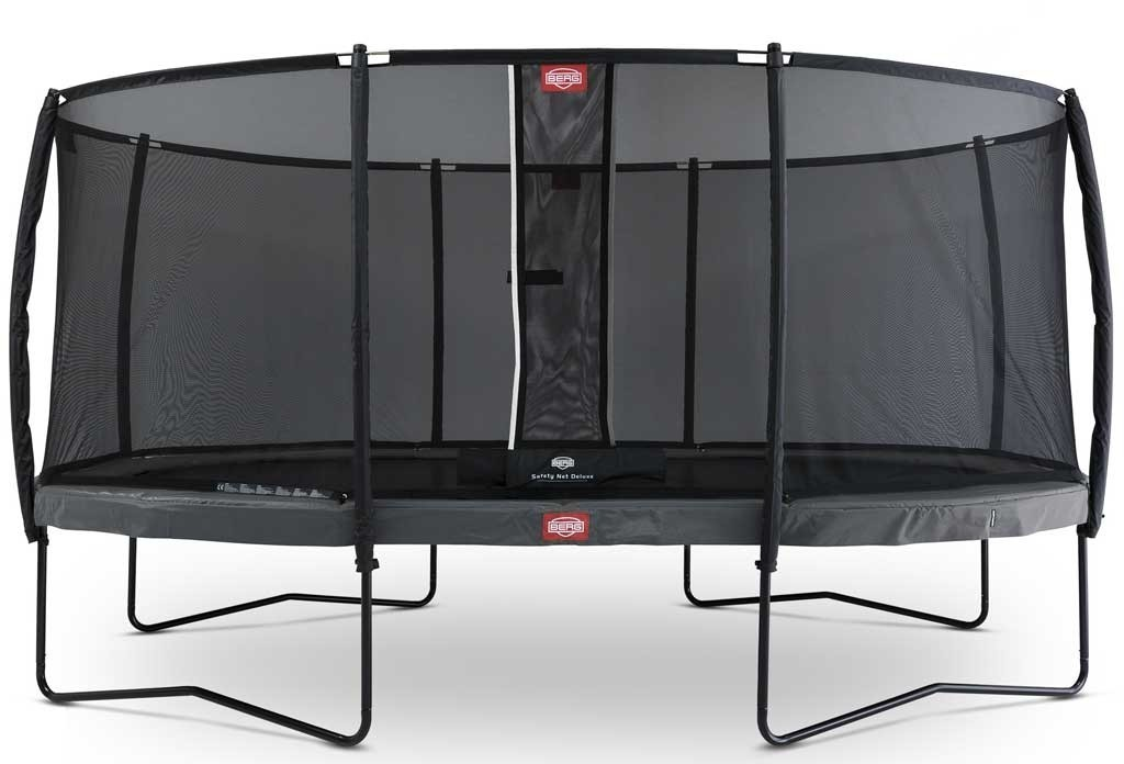 Trampoline oval gris 520 BERG Champion + filet