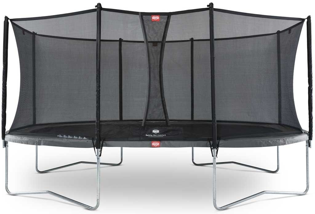 Trampoline Oval Gris 520cm Favorit + filet
