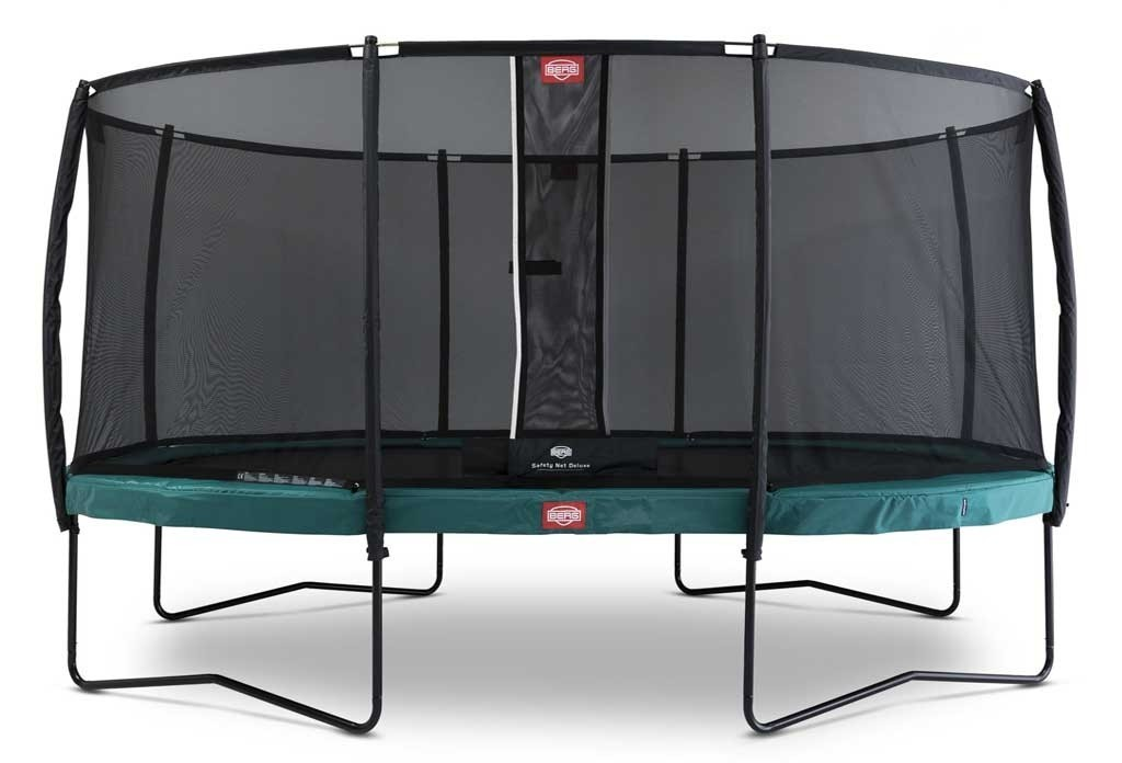 Trampoline oval vert 470 BERG Champion + filet