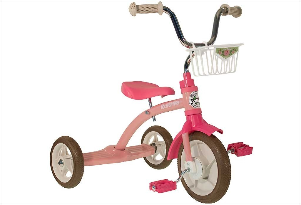 Tricycle fille rétro rose 10287