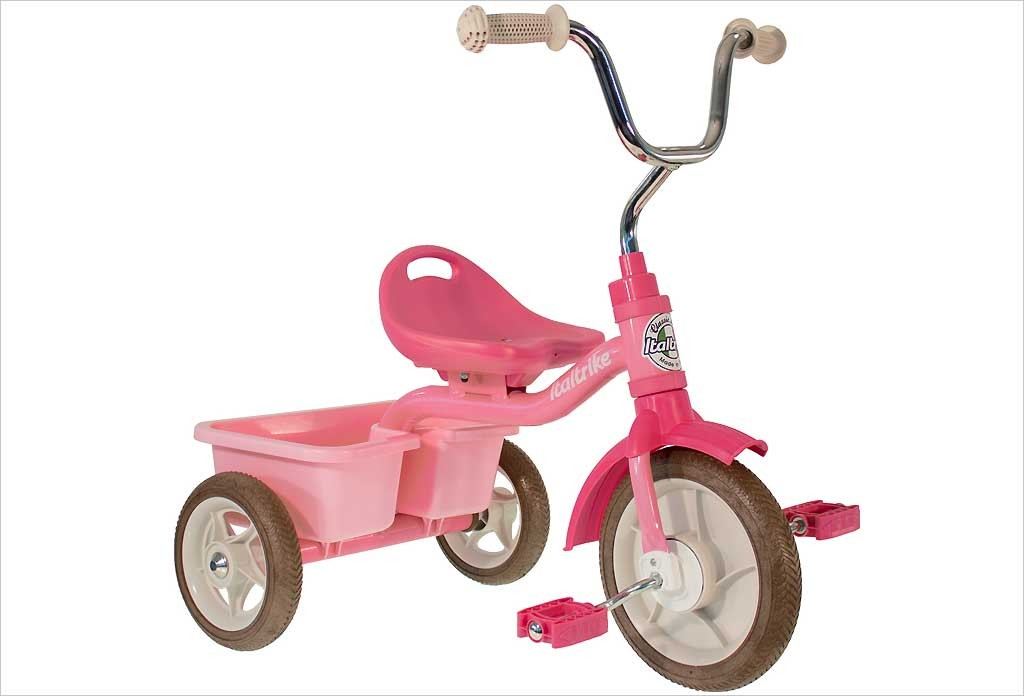 Tricycle fille rose  avec benne