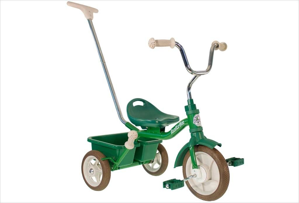 Tricycle vert avec canne et benne 10456 - Italtrike
