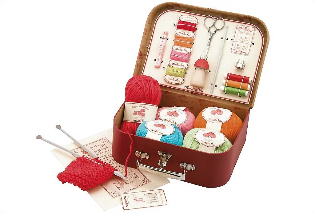 Valise de couture et tricot Moulin Roty