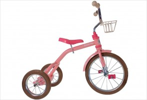 Grand tricycle vintage rose 3-5 ans