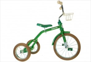 Grand tricycle vintage vert 3-5 ans
