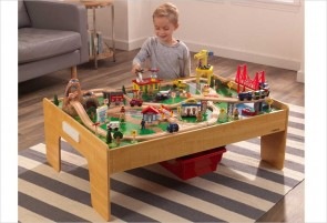 Table circuit de train Adventure Town de KidKraft