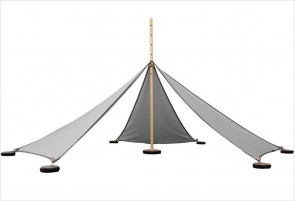 Tente Abel S - 5 triangles gris