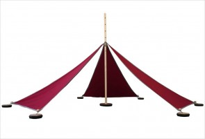 Tente Abel S - 5 triangles rouges