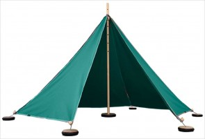 Tente Abel S - 5 triangles turquoise