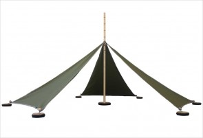 Tente Abel S - 5 triangles verts
