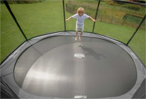 Trampoline 380 cm BERG Elite Gris + filet