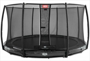 Trampoline BERG InGround Elite Gris 430 + Filet