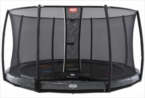 Trampoline BERG InGround Elite Gris 430 Levels + Filet