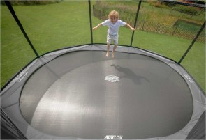 Trampoline BERG InGround Elite Gris 380 + Filet