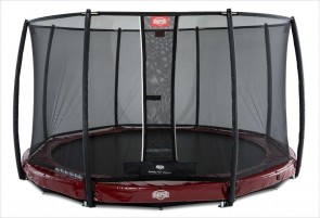 Trampoline BERG InGround Elite Rouge 330 + Filet