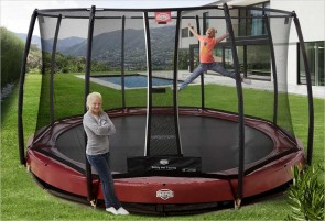 Trampoline BERG InGround Elite Rouge 430 + Filet