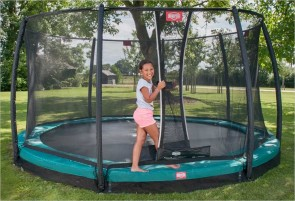 Trampoline BERG InGround Elite Vert 380 + Filet