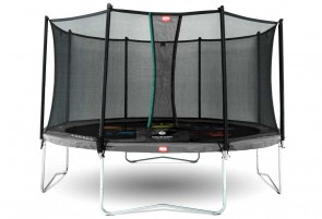 Trampoline imprimé Gris 430cm Favorit Levels + filet - BERG