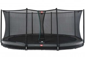 Trampoline Oval enterré Gris 520cm Favorit + filet