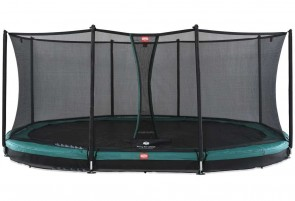Trampoline Oval enterré vert 520cm Favorit + filet