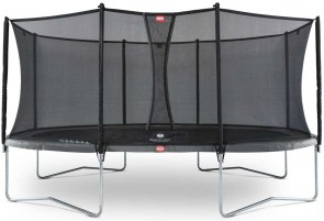 Trampoline Oval Gris 520cm Favorit + filet - BERG
