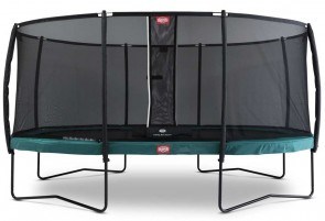 Trampoline oval vert 520 BERG Champion + filet