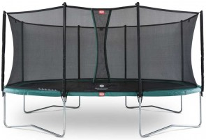 Trampoline Oval Vert 520cm Favorit + filet - BERG