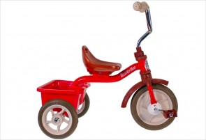 Tricycle métal rouge avec benne - Italtrike